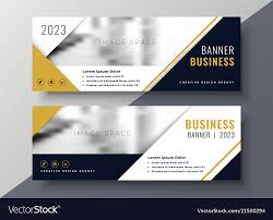 Business Banner Design Corporate Business Banner Design Template Vector Image