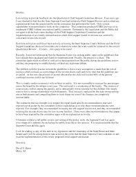 Child Custody Letter Sample Sample Of Child Support Letter Cocinacolibri Com
