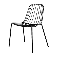 life interiors  resonate outdoor chair (black)  modern dining