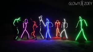 Light Up Stick Figure Costume Uk Led Light Up Stick Man Friends