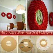 How to Make a Mirror Frame Out of Plastic Spoons