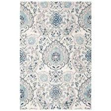 ikat area rug cream light gray 4 ft x 6 ft area rug ikat ivory blue