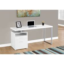 White and Silver Metal Computer Desk - Free Shipping Today - Overstock.com  - 17976077