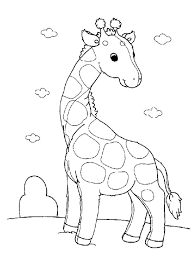 Baby Giraffe Coloring Pages