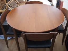 vintage retro beautility teak round extendable dining table 4 chairs in very good excellent