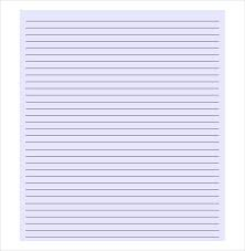 Lined Paper Template For Word 10 Lined Paper Templates