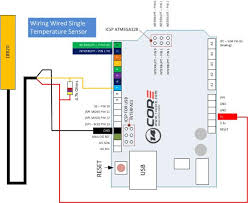 wiring the ds18b20 1 wire temperature sensor 14core com single ds18b20 temperature sensor wiring diagram wired