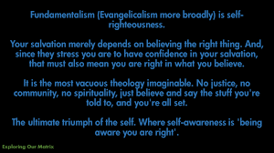 Self Righteous Christian Quotes Best of Fundamentalism Is SelfRighteousness