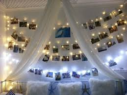 Teenage Girls Beach Surf Bedroom. Photo Wall. Fairy Lights.