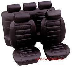 details about land rover freelander 2 luxury padded leather look car seat covers full set