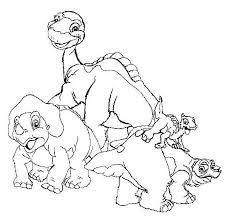 Small Picture Land Before Time Land Before Time Happy Group Coloring Page