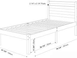 Twin Size Headboard Dimensions Bed Frame Awesome How Long Is A Twin Bed Frame Dimensions For