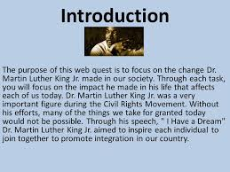 example of dr martin luther king jr biography essay king jr for the rest of the trip home he and his teacher were jostled around as the bus traveled down the highway at a time when african americans had