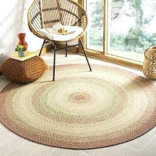 braided round area rugs braided collection hand woven rust and multi round area rug 6 braided round area rugs