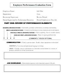 Simple Performance Appraisal Template