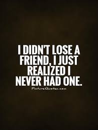 Quotes About Fake Friendship Interesting I didn't lose a friend I just realized I never had one Fake friend