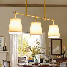 Großhandel Vollkupfer Restaurant Lichter Kronleuchter Drei Tischlampe Moderne Einfache Esszimmer Kreative Stoff Bar Lampe Beleuchtung E27 Von