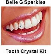 belle g tooth crystal kit 20 pieces clear crystals