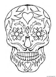 Free Printable Sugar Skull Coloring Pages Throughout Monesmapyrenecom