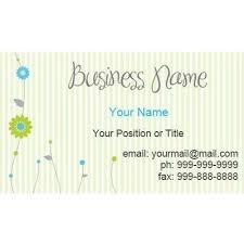 Business Card Template Word Blank Business Card Website