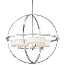 modern chrome steel chandelier