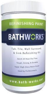 bathworks diy bathtub and tile refinishing kit white high gloss finish 20 oz great customer support