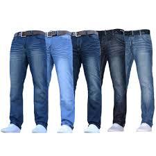 Designer Pants Details About Mens Denim Jeans Crosshatch Pants Bottoms Free Belt Straight Leg Designer New