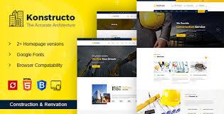 Construction Website Templates Mesmerizing Konstructo Construction And Architecture HTML Template By YogsThemes