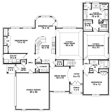 one and a half y house plans beautiful single story bungalow luxury four bedroom house plan