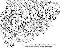 Swear Word Coloring Book Pages Ahole Curse To Print Inside Color
