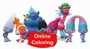 Trolls Holiday Online Coloring Pages Online Coloring Pages
