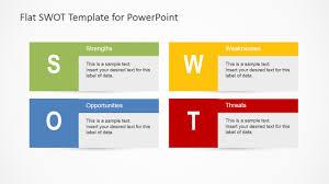 Swot Model Flat Swot Analysis Design For Powerpoint Slidemodel