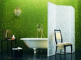 Sparkling green bathroom tiles