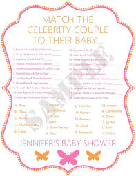 Wedding Shower Game What Age Was The Bride  Love Weddings Famous Mothers Baby Shower Game
