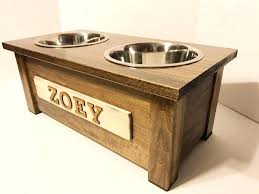 wooden dog food stand plans reclaimed wood feeder
