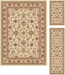 tayse rugs elegance beige area rug 3 piece set