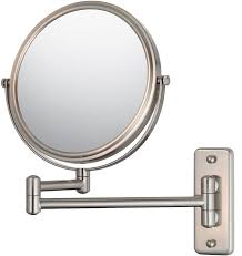 wall mounted makeup mirror double arm image