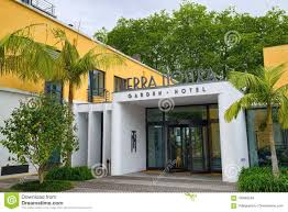 furnas azores portugal june 27 2017 main entrance of terra nostra garden hotel located in furnas town on sao miguel island of azores portugal