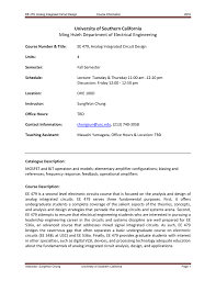 Bipolar And Mos Analog Integrated Circuit Design Ee 479 Analog Integrated Circuit Design