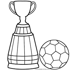 Small Picture World Cup Trophy with Soccer Ball Coloring Page World Cup