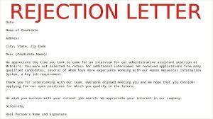 reject letter template rejection letter template sample rejection letter samples business