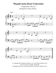 In this case we're entering the world of undertale and its amazing music. Piano Sheet Music Books Beginner Megalovania Piano Sheet Music Easy With Letters