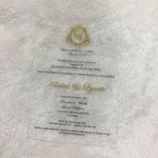 10pcs Newest Transparent Glass Acrylic Wedding Invitation Card Gold And Black Words Printing Wedding Favor Invitations Sample