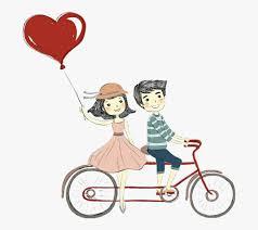 Cute Couple Png Love Romantic Bike Heart Cute Couple Clipart Png