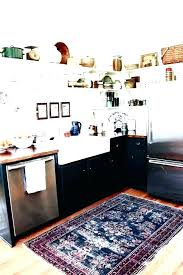 striped kitchen rug s black and white er check