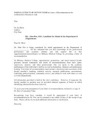 Faculty Promotion Letter Of Recommendation Sample Letter Of Recommendation For Promotion And Tenure
