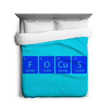 crazy dog tshirts element of focus f o cu s duvet cover funny science periodic table bedding com