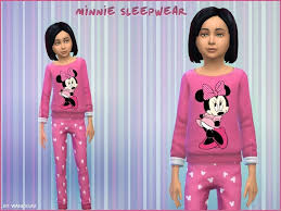 WanessaV's Sleepwear - Minnie | Sims 4 clothing, Outfit sets, Sims 4
