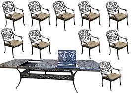 11 piece patio dining set cast aluminum