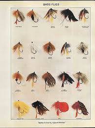 Fly Fishing Flies Chart 1910 Advertisement Color Fishing Bass Trout Flies Fly Color